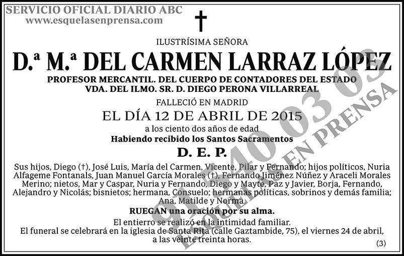 M.ª del Carmen Larraz López